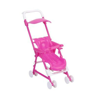 Dollhouse Mini Baby Nursery Pram Stroller DIY Assemble for Barbie Kelly Doll