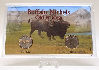 Buffalo Nickels Old & New Commemorative 1936 & 2005 5C United States Coin Set