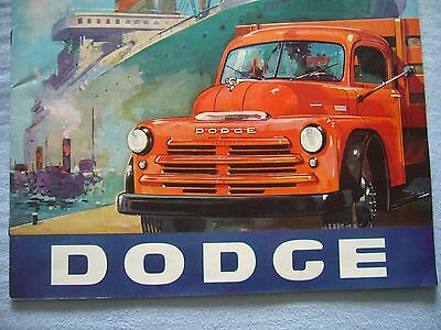 1949  Dodge Chrysler Model B-1-B-108116125126 Camion Brochure Originale