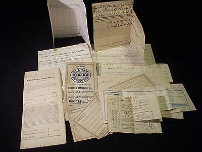 ANTIQUE 1870 - 1880 HISTORIC ADVERTISING Papers Plus other EMPHEMERA 16 PIECES