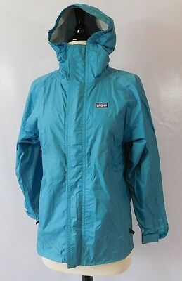 PATAGONIA Youth Blue Green Raincoat Lightweight Jacket Size Large / 12 Y