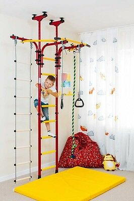 Kids Play Set for kids room, Indoor Playground, Climbing Wall with Rope Ladder