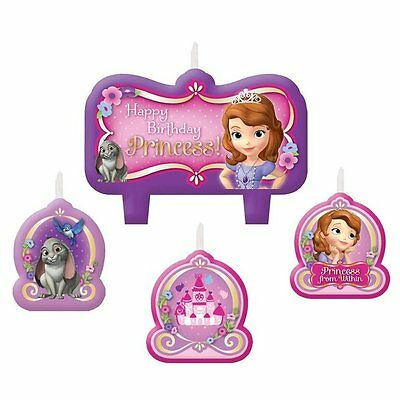 Disney Sofia the First Birthday Party Cake Candles Pack Set Of 4