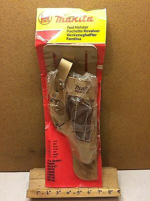 Vintage Makita Power Tools Riveted Leather Drill Pouch Holder 4 Pocket 07159