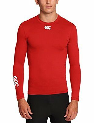 Canterbury Of New Zealand Cold, Baselayer maniche lunghe da uomo, Rosso, (k0C)