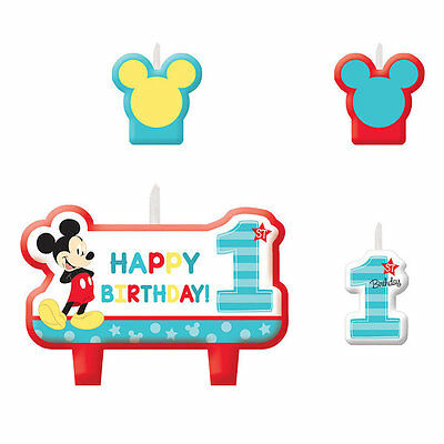 Mickey Mouse 1st First Fun To Be One Birthday Party Cake Candles Set Of 4