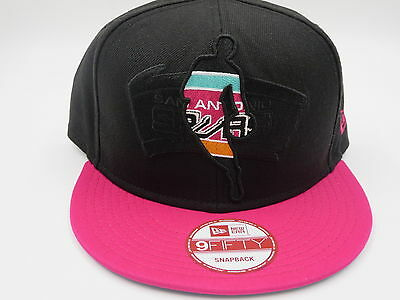 new products 0ed96 76200 San Antonio Spurs Pink Retro Vintage New Era 9FIFTY NBA Snapback Hat Cap