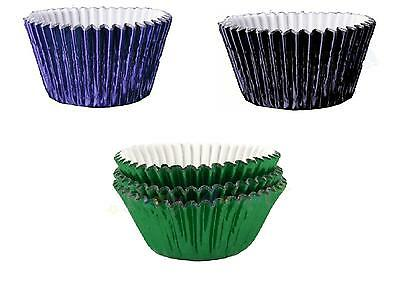 Cupcake Muffin Cases Green, Black, Navy Blue Foil CHOOSE COLOUR AND QUANTITY