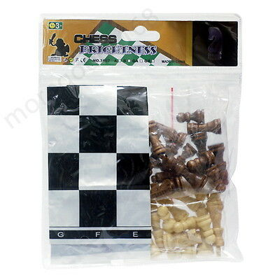 32 Pieces Portable Chess Set Popular wooden Chess Medium Designed Free shipping