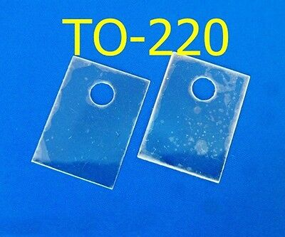 50, Mica Sheets TO-220 13x18mm Insulator for Transistor Heat Sink
