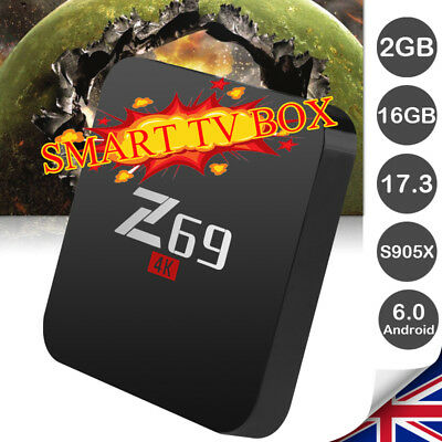X96 4K S905X Android 6.0 TV Box WIFI 2GB + 16GB Quad Core Media Player Streaming