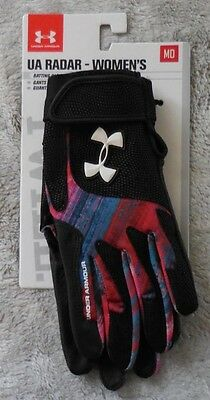 Under Armour Women's Radar III Softball Gloves Color Pacific/Black Size M New