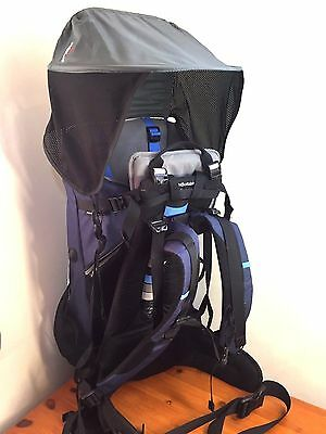 BushBaby Premier Baby Carrier / Backpack - Good  Condition 1x Bush Baby canopi