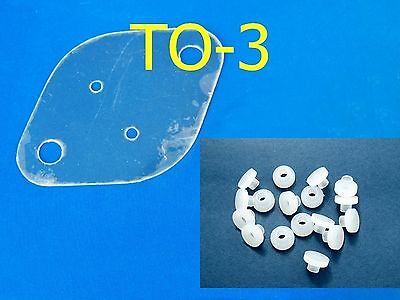 10, Mica Sets TO-3 29x42mm Insulator Sheets Nylon Bushings Transistor Heatsink
