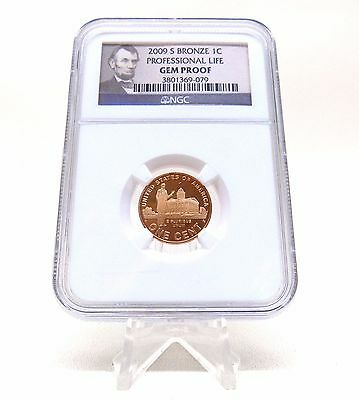 2009-S Bronze 1C Lincoln Professional Life Gem Proof NGC Penny 1 One Cent Coin