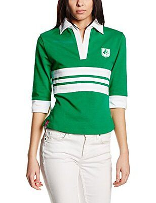 3 for a girl a righe Women' s IRISH Rugby, Donna, Irish Striped, verde - (E2S)