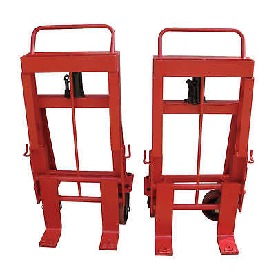 Machinery Mover Hand Truck, 10,000 lb., Steel, Number of Rollers 4 13V420
