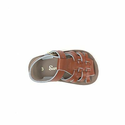 NEW INFANT TODDLER SALT WATER SANDAL 882 BROWN SUN-SAN BY HOY SHOES