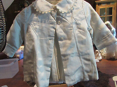 Antique Vintage Baby dress & Jacket. Hand made. Great for  Dolls or Bears!