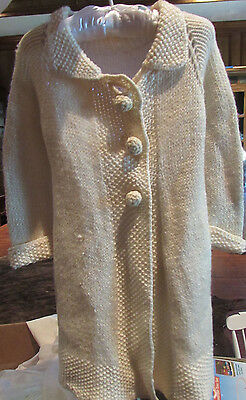 Antique Vintage Childs Sweater Coat. Hand made. Great for  Dolls or Bears!