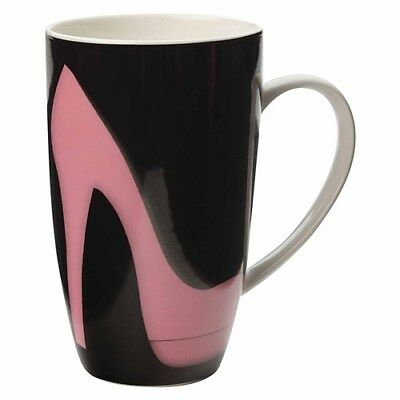 Maxwell & Williams Christopher Vine Well Heeled Coupe Mug 420ml Black Gift Boxed