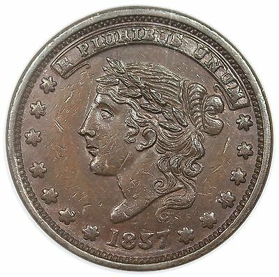 """1837/57 Hard Times Token, """"Millions For Defense"""", HT-46R, NGC MS61BN"""