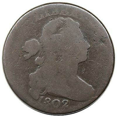 1802 Draped Bust Large Cent, S-232, LDS, reverse cud, nice G