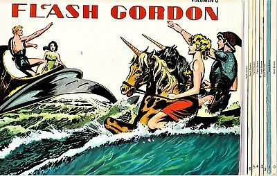 FLASH GORDON de Mac Raboy. Colección completa (8 tomos) Ed. B.O., 1978.