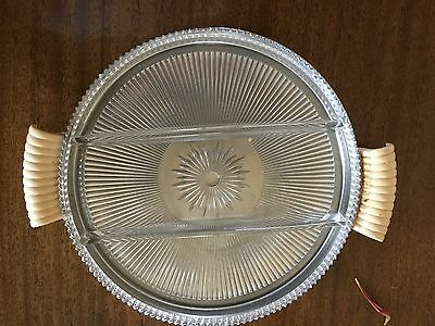 Chase serving platter with glass insert