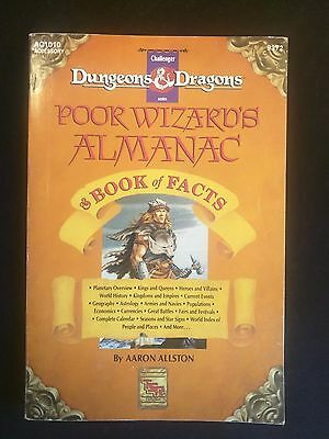 AD&D POOR WIZARD'S ALMANAC Advanced Dungeons & Dragons TSR 9372 AC1010
