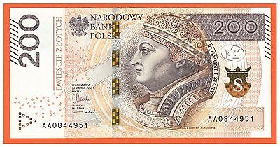 Poland - 200 - Zlotych - 2015 Issue 2016 - P-New - Series Aa - Unc