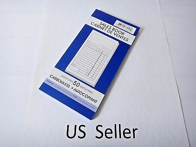 "Sales Book Order Receipt Invoice Duplicate Carbonless 50 sets 3.7""x7"" US Seller"
