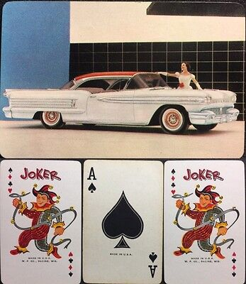 1958 Classic Automobile GM Dealership Rare Oldsmobile Convertible Playing Cards
