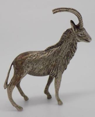 Vintage Solid Silver Mountain Goat / Ibex - Stamped* - Made in Italy