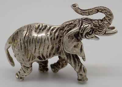 Vintage Solid Silver Elephant Miniature - Stamped - Made in Italy - & Gift Bag