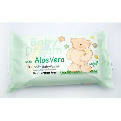 72 x 72 Pack Soft Baby Dream Wipe Wipes With Aloe Vera  joblot clearance markets