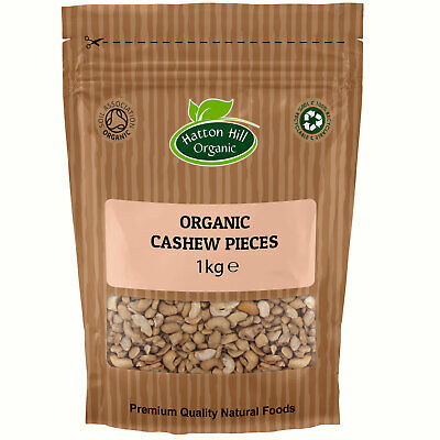 Organic Large Cashew Nuts Pieces 1kg Certified Organic
