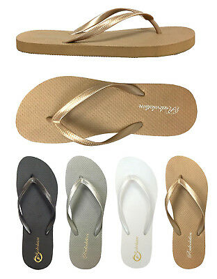 WHOLESALE LOT Women's Flip Flop Solid Two Toned Beach Basic Sandals 48 Prs--383