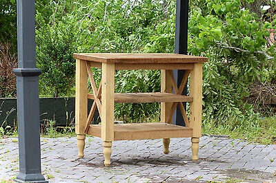 "37"" Hand Crafted Barn Wood Table French Provincial Reclaimed Wood Kitchen Island"
