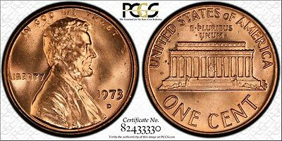 1973-D PCGS MS66 RD Lincoln Memorial  Cent 1C Secure Label + TrueView Ships Free