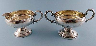 Antique Revere Silversmiths 825 Weighted Sterling Sugar Bowl & Creamer Set 205 g