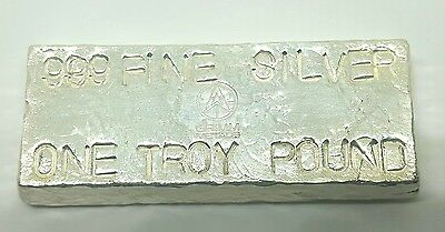 1 Troy Pound .999 Fine Silver Bar - Hand Poured - Hand Stamped - Grimm Metals