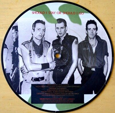 """THE CLASH SHOULD I STAY OR SHOULD I GO /  STRAIGHT TO HELL 7"""" Vinyl Picture Disc"""