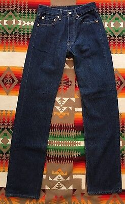 Vtg Levi's 501xx Jeans Button Fly Red Tab 90's Dark Blue Denim 26x32 Made In USA