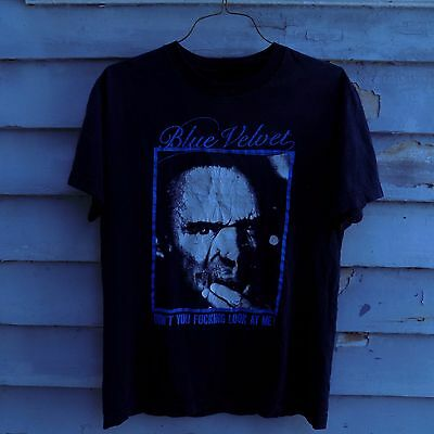 Vintage David Lynch BLUE VELVET  Movie T Shirt RARE Twin Peaks UNISEX M