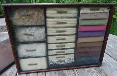 Antique PACIFIC MILLS Wool Display Sample Case 19th C. Textile Industry Artifact