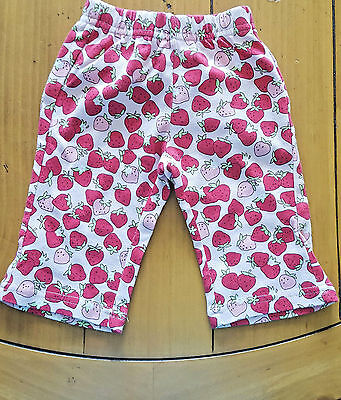 Gymboree Girl's Pink Red Strawberry Pants 3-6 Months