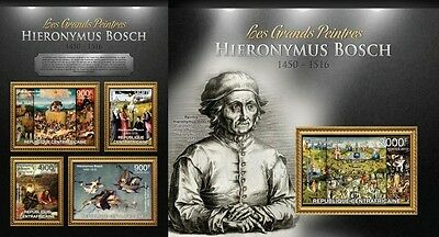CA13106ab Central Africa 2013 Hieronymus Bosch MNH SET