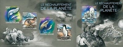 CA14316ab Central Africa 2014 Global warming MNH SET