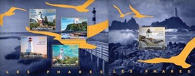 CA14517ab Central Africa 2014 Lighthouses MNH SET